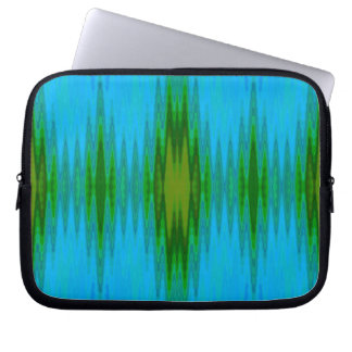 Turquoise Green Abstract Laptop Sleeve