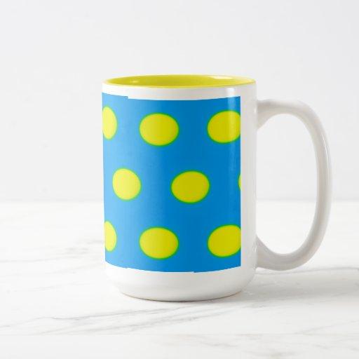 Turquoise, Green and Yellow Eggs Coffee Mug