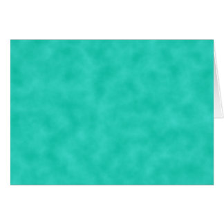 Turquoise Green-Blue Marbleized Card