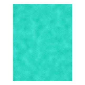 Turquoise Green-Blue Marbleized Letterhead