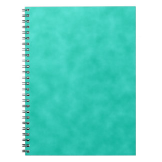 Turquoise Green-Blue Marbleized Notebook