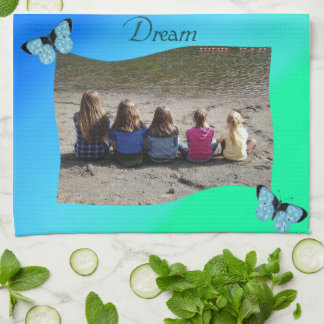 Turquoise & Green Butterfly Dream Hand Towels