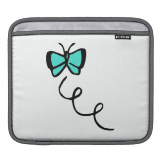 Turquoise Green Butterfly Sleeves For iPads