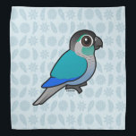 """Turquoise Green-cheeked Conure Bandana<br><div class=""""desc"""">The Turquoise Green-cheeked Conure is a color mutation found in aviculture,  where the Green-cheeked Parakeet is a popular species. You can customize this gift! Move the conure around,  change the background color or style,  add text or images -- make it your own!</div>"""