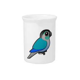 Turquoise Green-cheeked Conure Beverage Pitcher