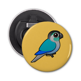 Turquoise Green-cheeked Conure Bottle Opener