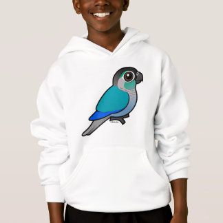 Turquoise Green-cheeked Conure Hoodie