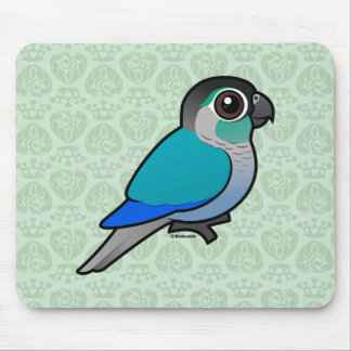 Turquoise Green-cheeked Conure Mouse Pad