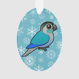 Turquoise Green-cheeked Conure Ornament