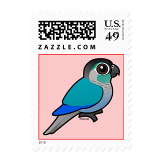Turquoise Green-cheeked Conure Postage Stamps