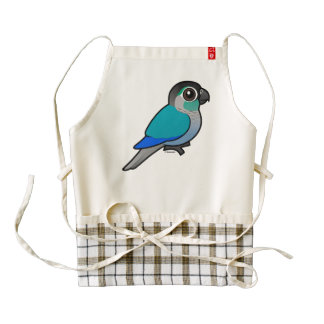 Turquoise Green-cheeked Conure Zazzle HEART Apron