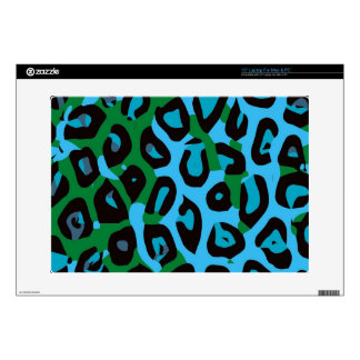 "Turquoise Green Cheetah Abstract Skin For 15"" Laptop"