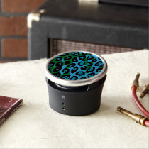 Turquoise Green Cheetah Abstract Speaker