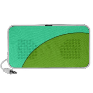 Turquoise Green Circle Speaker System