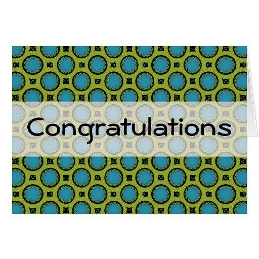 Turquoise Green Circles Cards