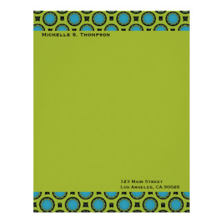 turquoise green circles letterhead