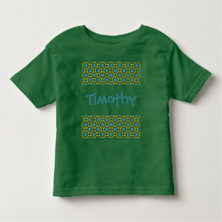 turquoise green circles toddler t-shirt