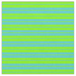 [ Thumbnail: Turquoise & Green Colored Pattern Fabric ]