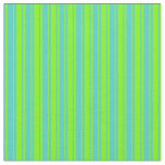 [ Thumbnail: Turquoise & Green Colored Stripes/Lines Pattern Fabric ]