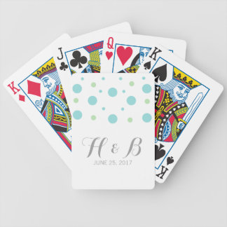 Turquoise Green Confetti Playing Cards