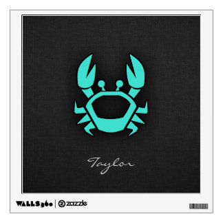 Turquoise Green Crab Wall Decal