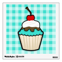Turquoise Green Cupcake Wall Decal