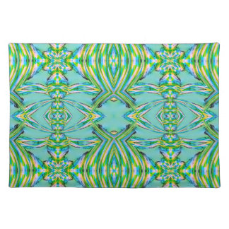Turquoise Green Design American MoJo Placemat