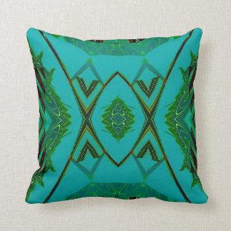 Turquoise Green Diamond Shapes American MoJo Pillo Throw Pillows
