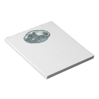 Turquoise Green Dragon Medallion Notepad