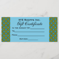 Turquoise Green Gift Certificate