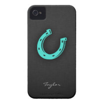 Turquoise Green Horseshoe iPhone 4 Case