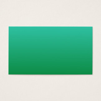 Turquoise Green Ombre Business Card