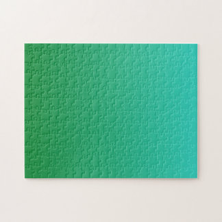 Turquoise Green Ombre Jigsaw Puzzle