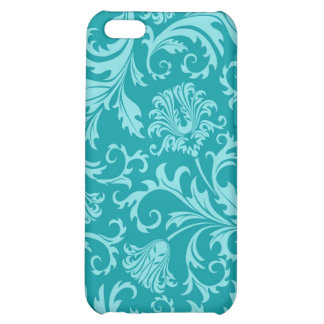 Turquoise-Green Vintage Damasks-Customized iPhone 5C Cover