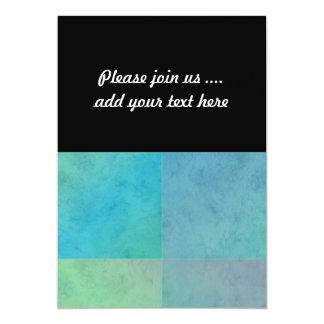 "Turquoise Green Watercolor Geometric Pattern Art 5"" X 7"" Invitation Card"