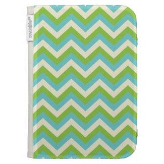 Turquoise/Green Zigzag Kindle Keyboard Covers