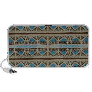 Turquoise Grey Pattern Travel Speaker
