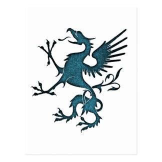 Turquoise Griffon Eagle Lion Postcards