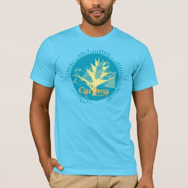 Aztec Themed Turquoise Grunge Heliconia T-Shirt