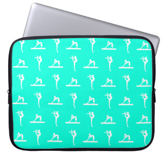 Turquoise Gymnastics Laptop Sleeve