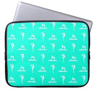 Turquoise Gymnastics Laptop Sleeve