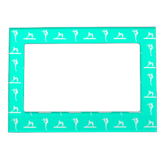 Turquoise Gymnastics Magnetic Picture Frame