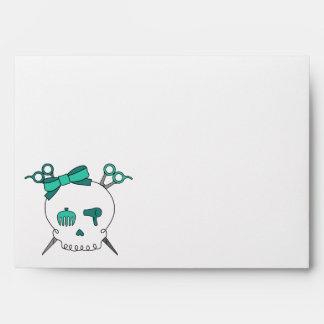Turquoise Hair Accessory Skull -Scissor Crossbones Envelope