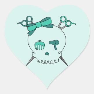 Turquoise Hair Accessory Skull -Scissor Crossbones Heart Sticker