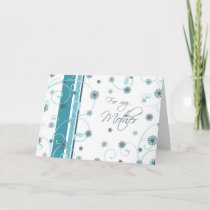Turquoise Happy Holidays Mother Christmas Card