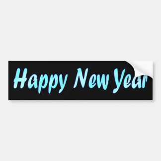 turquoise happy new year bumper sticker