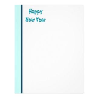 Turquoise Happy New Year Custom Flyer