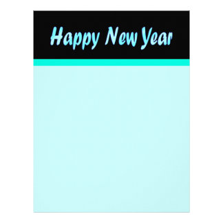 turquoise happy new year letterhead