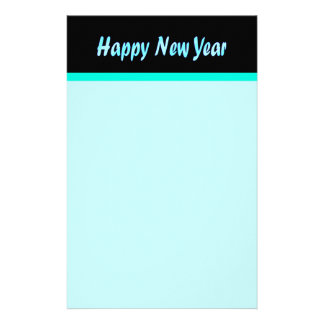 turquoise happy new year stationery