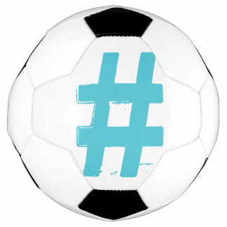 Turquoise Hashtag # Soccer Ball